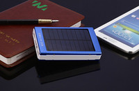 Wholesale 100pcs mAH Solar Charger Port External Battery Pack For Cellphone iPhone s S C iPad iPod Portable Power Bank