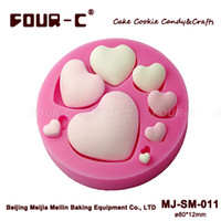 Wholesale Hearts Design Silicone Mold Decorative Cake Mold Fondant Cake Mold Handmade Soap Mould D Candy Molds