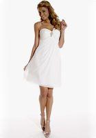 Cheap A-Line short wedding dresses Best Reference Images One-Shoulder beach wedding dresses