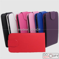 For Samsung Leather  New Verticle Up and Down Open PU Flip Leather Case Cover For samsung galaxy S3 mini I8190 free shipping 50 pcs
