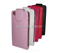 For Samsung Leather  New Verticle Up and Down Open PU Flip Leather Case Cover For samsugn galaxy S3 mini I8190 100 pcs free shipping