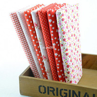 Wholesale 2014 New Arrival CM CM Prints Assorted Red Collection Cotton Sewing Fabric Diy Cloth for Patchwork Quilting Tilda W1A3