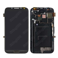 Wholesale Full LCD Display Touch Screen Digitizer frame Assembly for Samsung Galaxy Note II N7100 White gray Color