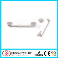 Wholesale G23 Titanium Internally Threaded Flat Surfacel Barbell Surface Piercing Jewelry