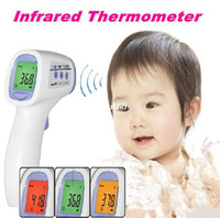 Wholesale Home and Baby Infrared Thermometer Non Contact Laser Infrared Digital IR Thermometer Tri color backlight