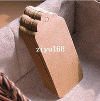 Wholesale GSM Scallop Kraft Blank Hang tag x9 cm Retro Gift tag Table Number cards High Quality Kraft Tag