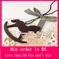 Wholesale Min Order Mix Jewelry order Wood rocking horse pendant charm beaded necklace retro N0025