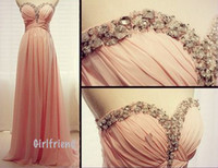 china prom dresses - Glitz Rhinestones Prom Dresses Sweetheart Open Back Chiffon Floor Length Chiffon China Open Back Evening Gowns