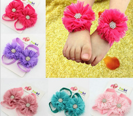 2017 NEW ARRIVAL Baby Hand Foot Accessories Toddler Hand Feet Fashion Feet Flower Bands Free Shipping 30pair lot GX299