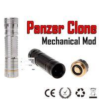 Non-Adjustable panzer mod Electronic Cigarette Panzer mod panzer mech mod black stainless color panzer clone mechanical mod similar to hades stingray mod ecig