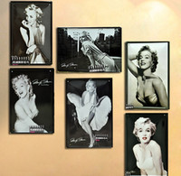 Metal Antique Imitation Painting Marilyn Monroe Paitting Sign Bar pub Wall Decor Retro Metal Art Poster Vintage Craft Patins Home Decoration Mural Poster