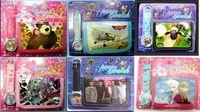 bearing direction - HOT sets Mix Cartoon Style Children Boy Girl Watch Wallet Sets Superheros Frozen Sofia Bear One Direction Wristwatch Kids Purse Wallets