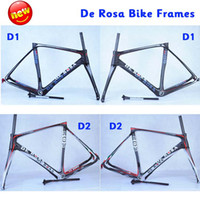 Wholesale 2014 De Rosa SuperKing Superking E Nero Silver Carbon Frames Italy Quality Road Bike Frameset Red and Black Trek Carbon Frames