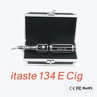 Cheap 2014 Hottest Stainless E Cig Mods Kit E Cigarette VV Mod Itaste 134 Vaporizer Full Mechanical Mods Huge Vapor Adajustable Vattage
