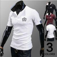 Men Cotton Polo Free Shipping Summer New Men's Classic High Quality Short Sleeve T-Shirt Deer Embroidery Logo Polo Shirt M-XXL t01039
