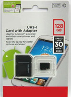 Wholesale 128GB Class Micro SD card Android Robot microSDHC GB microSD micro SDHC UHS UHS I U1 GB TF Card DHL EMS