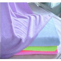 Wholesale S5Q New Swimwear Absorbent Microfiber Fleece Shower Spa Body Wrap Towel Color AAABZI