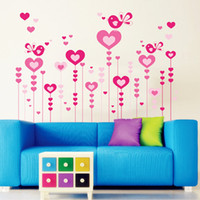 Graphic vinyl PVC Animal Fashion romantic love wallpaper background decorated marriage room bedroom den DIY Removable Wall Stickers 60*90cm