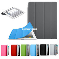Wholesale New Fashion Ultra Thin Magnetic Leather Smart Cover Case for iPad Freeshipping
