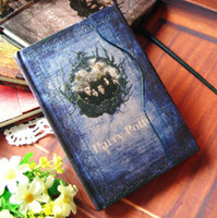 Planners & Organizers magnetic paper - Creative Harry Potter Magnetic Notebook European Stationery Paper Notepad Diary Book Premiums Gift SH571