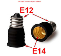 Wholesale E12 to E14 to E12 screw base holder socket converter adapter for candle lights lamp bulb