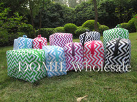 "8.5""*6.0""*3.75"" Polyester Bag Ready In Stock Chevron Design Cosmetic Bags Wit Various Colors Are Available"