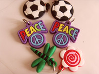 Wholesale DIY Dolls Flowers Football PVC Floating Charms for Rainbow rubber Band Bracelets Boys and Girls fits All Loom
