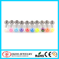 Stainless Steel acrylic body jewelry display - UV Candy Colors Electroplated Series Labret Acrylic Body Jewelry Display