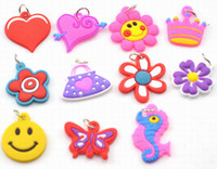Wholesale 500pcs Mixed girl Assortment Charms for Rainbow Loom Bracelets small pendant styles mixed