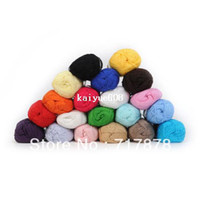 Wholesale pieces Knitting Yarn Natural Soft Bamboo amp Cotton Skein High Quality Baby Yarn