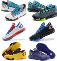 Wholesale Kevin Durant Kd Mens Basketball Shoes Athletic Kd6 Sneakers Size With Swoosh Logo