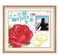 Wholesale New Hot Sale Print cross stitch new arrival lovers marriage needlework Chinese style
