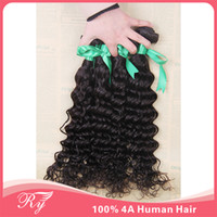 Wholesale RYhair products grade A brazillian human hair weave brazilian curly virgin hair deep curly inch in stock