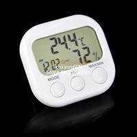 Wholesale Indoor Digital Thermometer Hygrometer Clock KS White Dropshipping TK0440