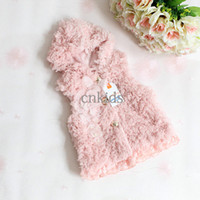 Wholesale 2014 Fall And Winter Kids Clothes White And Baby Pink Two Colors Woolen Blend Vest Girls Fashion Waistcoat Ready Stock OC40509