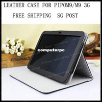Protective Shell/Skin 7'' For Apple wholesale Original Leather Case for PiPo M9 RK3188 Tablet PC Smart Cover Grey Free shipping