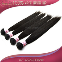 Wholesale 4pcs hair A Grade Brazilian Peruvian Malaysian Indian Russian Virgin Remy Hair Weaves Hair extension natural straight black salon beauty