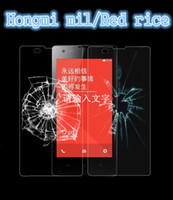 Red rice/Hongmi white rice - Reatil New Protective Film MM H DTempered Glass Screen Protectors Explosion Proof For Red Rice HongMi Guard Shield white Package