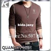 Wholesale HOLIDAY SALE FASHON STYLE MEN S NEW BRAND T SHIRT CASUAL LYCRA COTTON SLIM FIT T SHIRT FOR MEN BY CHINA POST