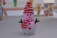 Wholesale 1505L new crystal snowman Can insert card take radio mini carry bluetooth speakers
