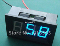Wholesale Blue DC V Two wire Voltmeter LED Display Digital Voltage Panel Volt Meter for all the electrombile