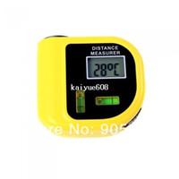 Wholesale 20piece Handheld Ultrasonic Distance Meter Measurer Tool LCD Laser Pointer Designator Backlight m ft