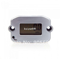 Wholesale Digital Hour Tach Meter Gauge Tachometer Resettable LCD h RPM Silver