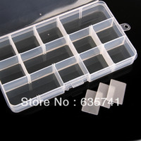 Wholesale 10pcs Plastic Slots Jewelry Adjustable Tool Box Case Craft Organizer Storage Beads