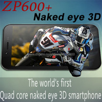 naked 2 - Original Zopo ZP600 Mobile Phone MTK6582 Quad Core GHz GB RAM GB ROM MP Camera GPS Bluetooth Android Naked eye D
