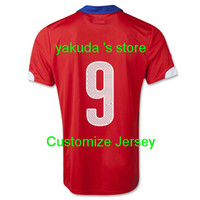 Chile 2014 #9 E. VARGAS Home Soccer Jersey, Customized Thai Q...