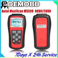 Wholesale MS509 MaxiScan code OBD scanner latest version high quality ms509 Autel MS
