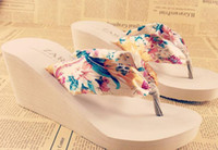 Wholesale Bohemia sandals female summer platform slippers platform wedges flip flops women s slippers flip san