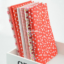 Wholesale CM CM Prints Assorted Red Collection Cotton Sewing Fabric Diy Cloth for Patchwork Quilting Tilda W1A3