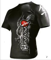 2014 nuovo arrivo MMA Rash Guard Hayabusa Rashguard 12 stili Rashguard trasporto libero